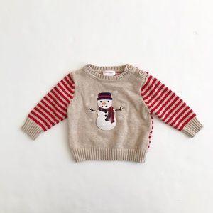 Joe Fresh snowman knit sweater VGUC 3-6 months